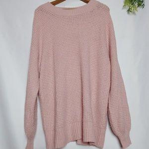American eagle blush pink sweater